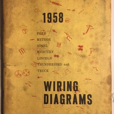 books manuals vintage ignition 1965 Ford Alternator Wiring Diagram 1958 ford wiring diagram
