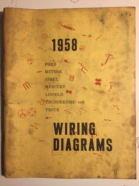 1958 ford product wiring diagrams manual
